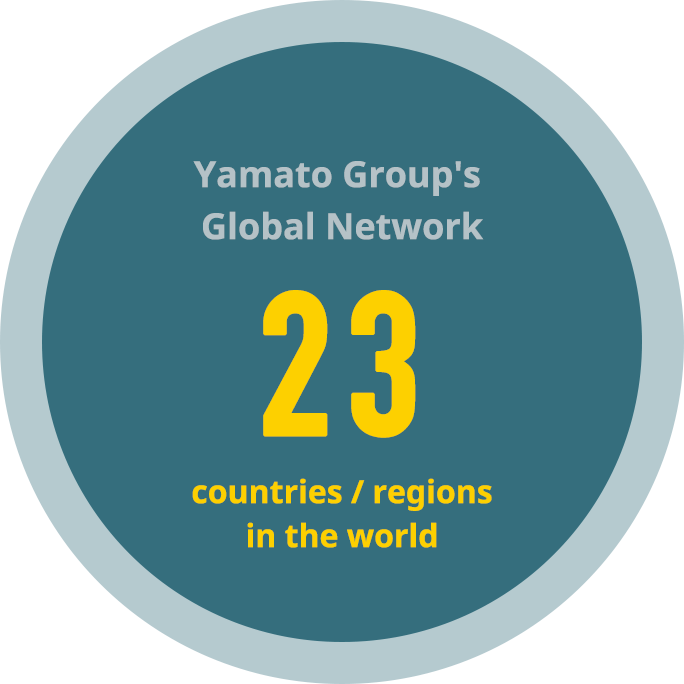 Yamato Group's Global  Network 23 countries / regions in the world